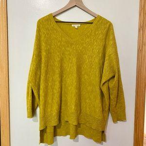 Eileen Fisher yellow/green linen blend sweater